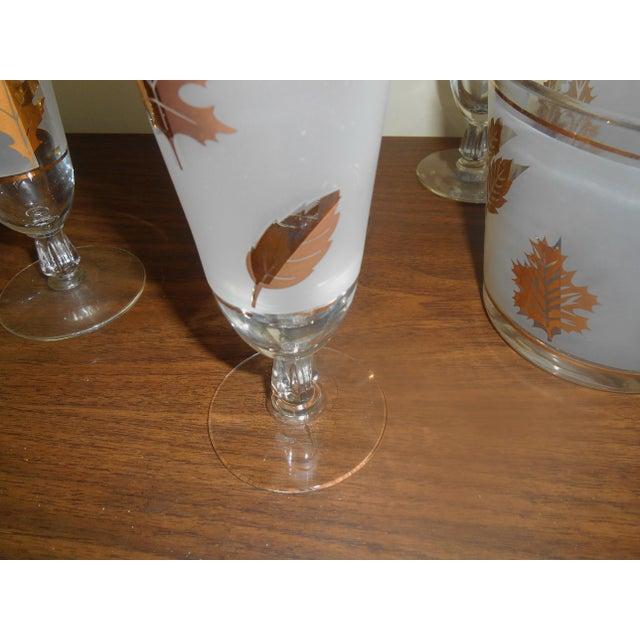 Vintage Libby Pilsner Glasses With Ice Bucket - Set of 7 - Image 3 of 4