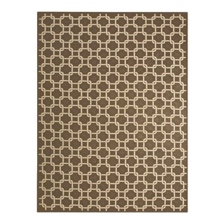 """Modern Brown Needlepoint Rug 9'0"""" X 12'0"""" For Sale"""