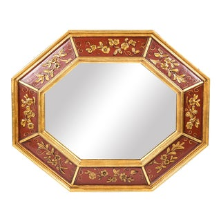 Mid 20th Century Wood Framed Wall Mirror For Sale