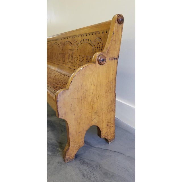 Wood 19th Century Children's Church Pew or Bench For Sale - Image 7 of 13