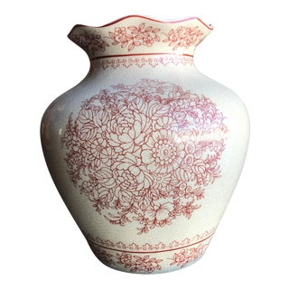 Crackled French Country Style Vase