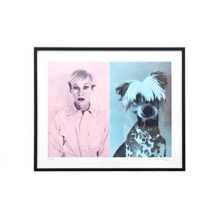 "Andy Warhol and Chinese Crested Dog"" Christopher Makos For Sale"