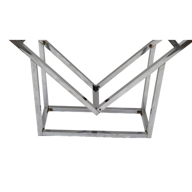 1970s Chrome Geometric Diamond Shaped Etagere For Sale In Miami - Image 6 of 9