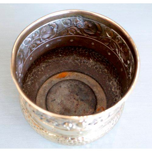 Small English Brass Repoussé Cachepot - Image 2 of 7