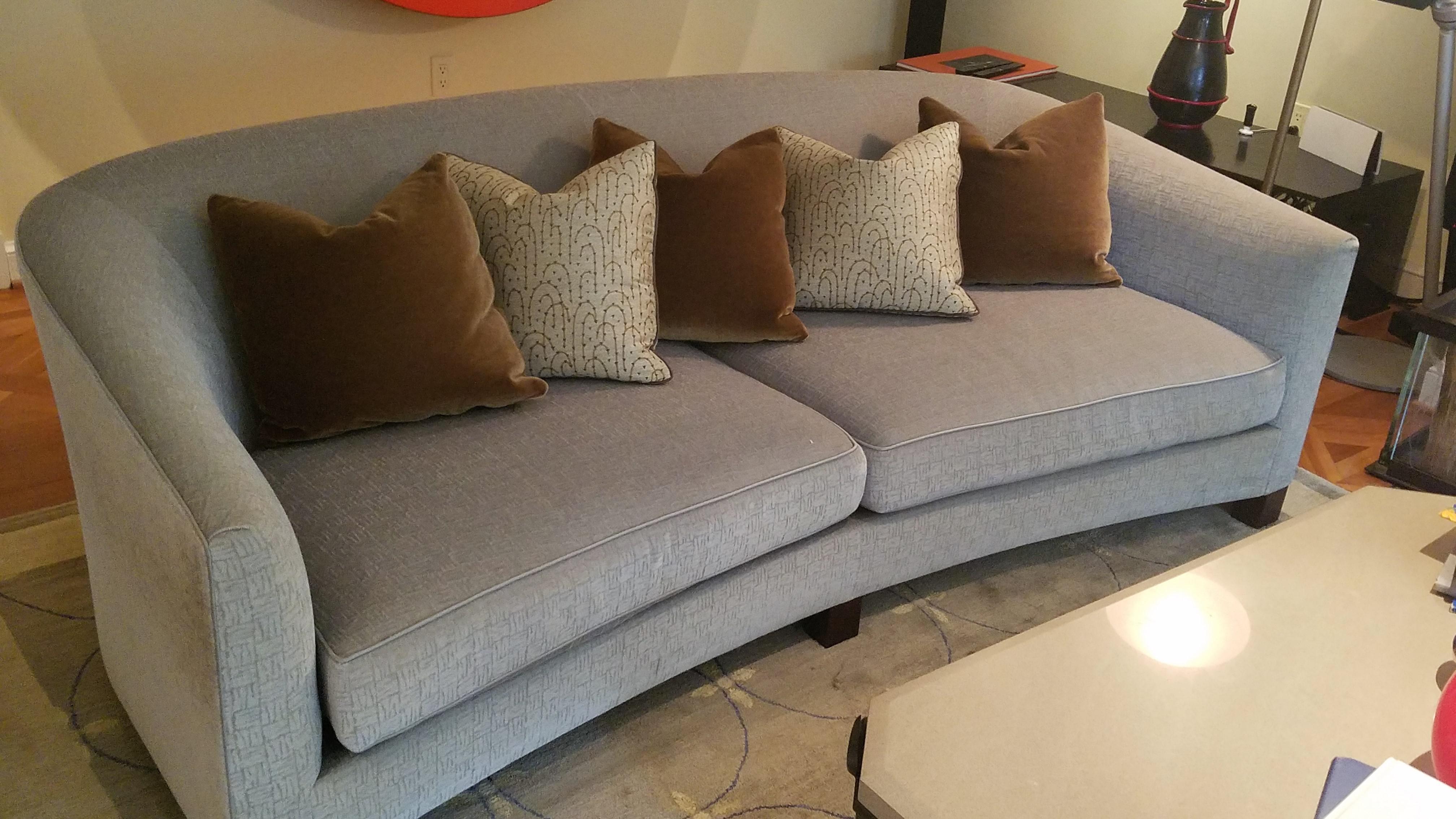 Crescent Sofa Custom Curved Shape Sofa Avelle 232 Fabric