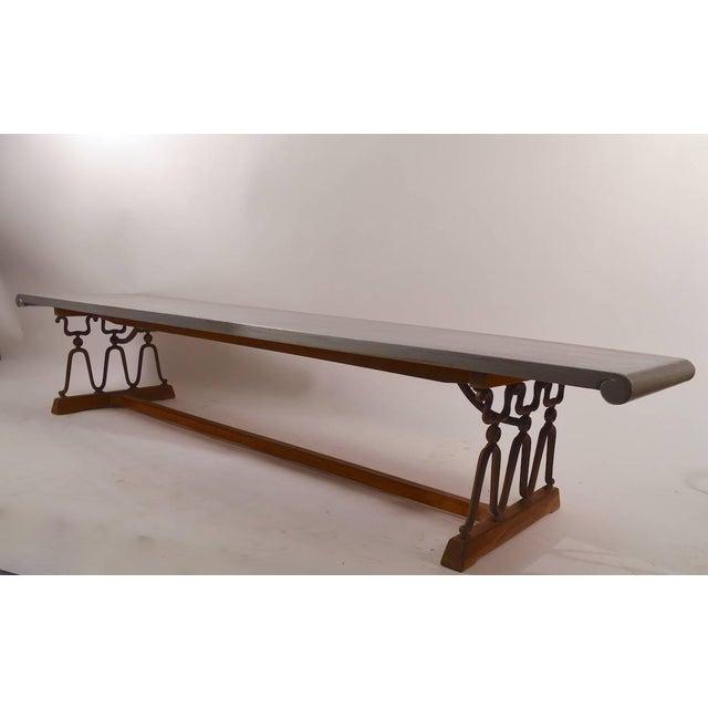 "Metal John Van Koert for Drexel ""Casa Del Sol"" Bench Coffee Table For Sale - Image 7 of 10"