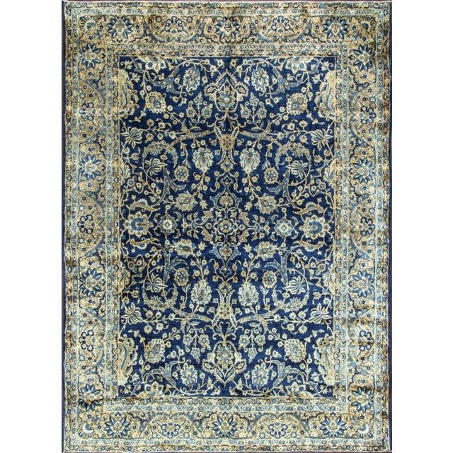 """Antique Persian Laver Kerman Carpet, 8'5"""" X 11'7"""" For Sale - Image 9 of 9"""