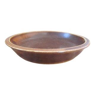 "1950s Danish Modern Eva Staehr Nielsen Saxbo Decorative Brown Bowl, 6"" Diam. For Sale"