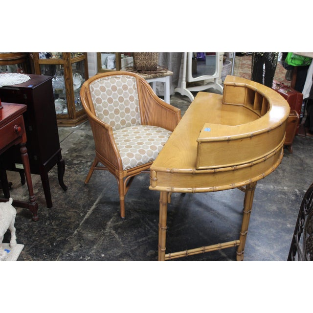 2010s Ficks Reed Writing Desk & Chair - a Pair For Sale - Image 5 of 11