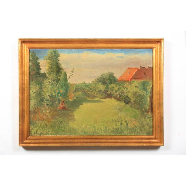 1953 Hjalmar Kragh-Pedersen Expressionist Pastoral Landscape For Sale In Nashville - Image 6 of 6