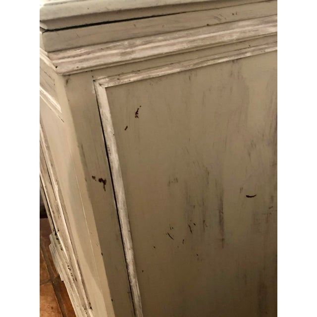 Wood Light Gray Sideboard With Double Doors For Sale - Image 7 of 11