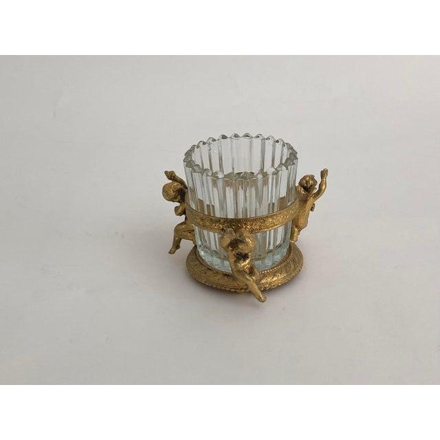Hollywood Regency 1960s Vintage Gilt Vanity Jar For Sale - Image 3 of 6