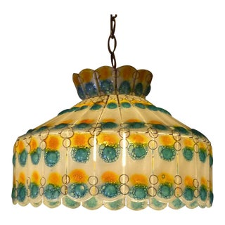 1960s Mid-Century Modern Fused Art Glass Chandelier For Sale