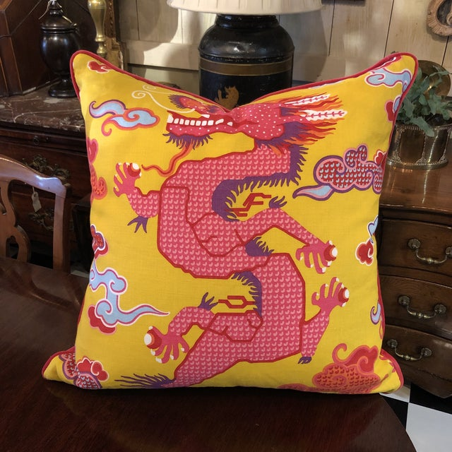 2020s Dragon Pillow For Sale - Image 5 of 5