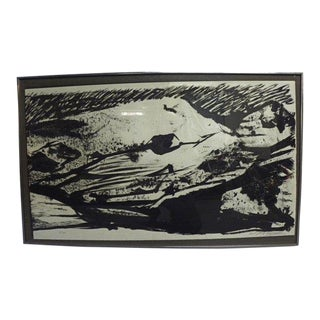 Vintage Mid Century Signed and Numbered Framed Lithograph For Sale