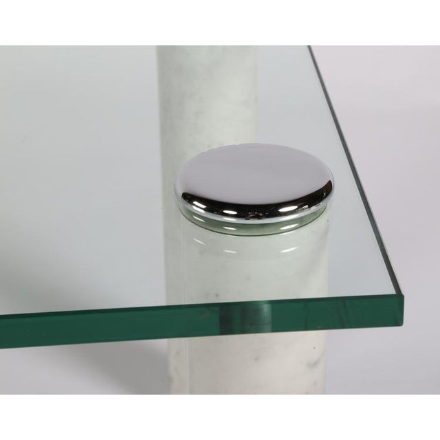 PACE MARBLE AND GLASS COCKTAIL TABLE For Sale In New York - Image 6 of 7