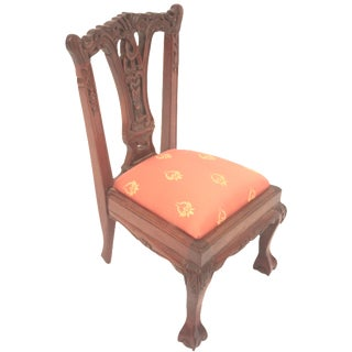 Chippendale-Style Doll Chair For Sale
