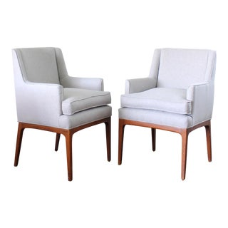 Mid Century Modern Upholstered Chairs - A Pair