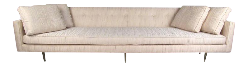 Bon Edward Wormley Sofa With Brass Legs For Dunbar For Sale