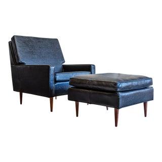 Mid Century Modern Milo Baughman for Thayer Coggin Lounge Chair & Ottoman For Sale