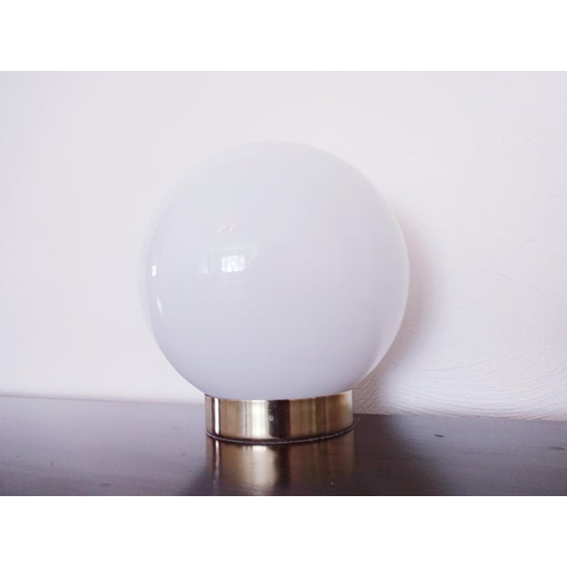 1970s 1970s Mid-Century Modern Glass Orb Lamp For Sale - Image 5 of 6