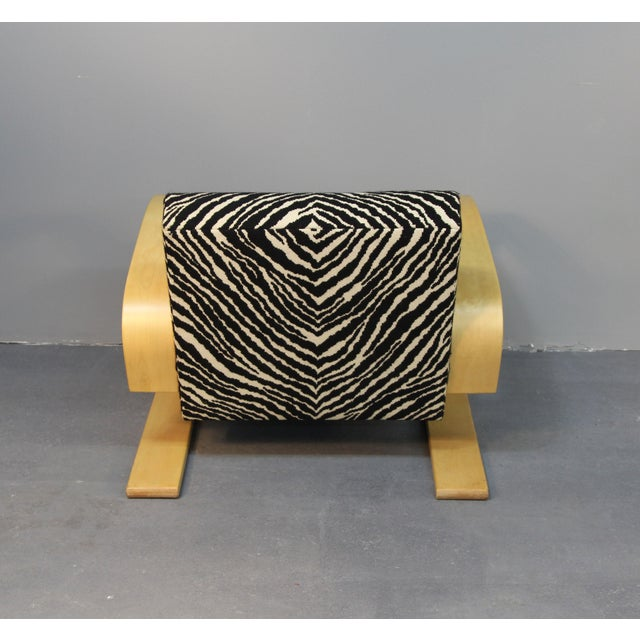 Alvar Aalto Tank Chair With Original Zebra Fabric - Image 7 of 7