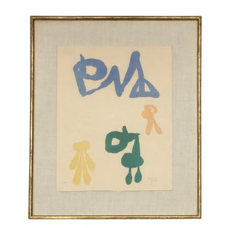 Vintage Abstract Lithograph by Joan Miró For Sale