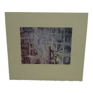 """Perry Macon Oliver Limited Edition """"Building Blocks"""" Signed Numbered (3/45) Print"""