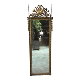 Rare Pier Mirror, Louis XVI , 18th Century For Sale
