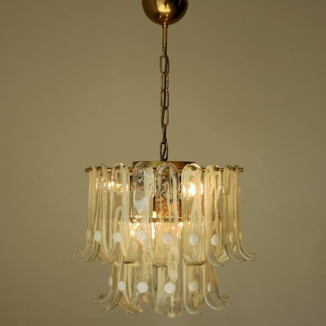 Italian Petals Chandelier by Mazzega For Sale - Image 3 of 10