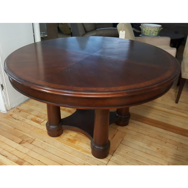 """Hickory White Dining Set in Spice Finish 54"""" Round Dining Room table with 1 22"""" leaf 54"""" Diameter, 30""""H The Table by..."""