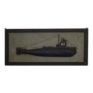 Rare Submarine Half Hull C.1940 For Sale