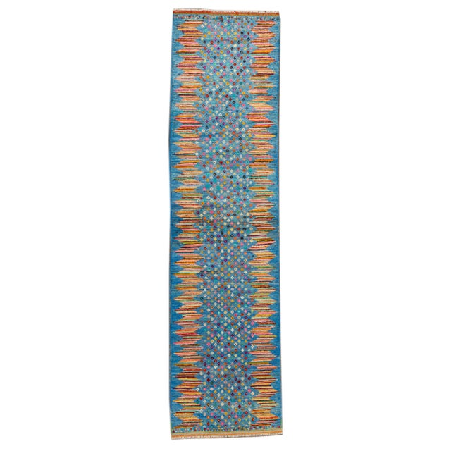 "Modern Gabbeh Rug, 2'7"" X 9'10"" For Sale - Image 10 of 10"