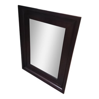 Antique English Rosewood and Ebony Wall Mirror