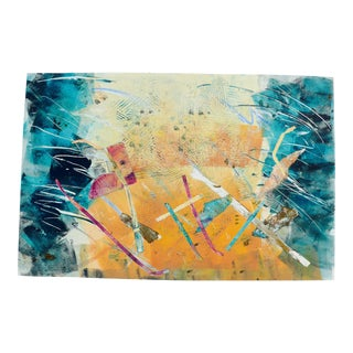 """""""Flight"""" Contemporary Abstract Original Monoprint by Martha Holden For Sale"""