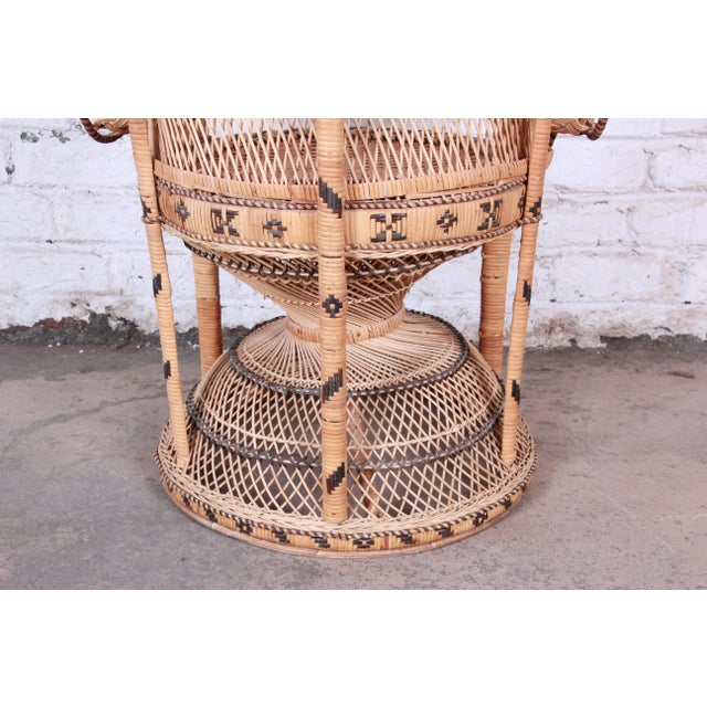 "1970s Bohemian Wicker ""Emanuelle"" Peacock Chair For Sale - Image 12 of 13"