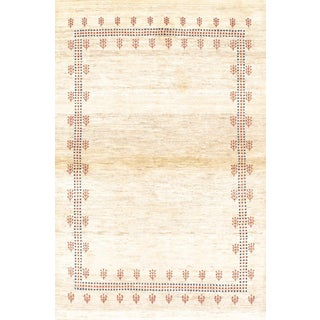"21st Century Pasargad Persian Gabbeh Rug - 3'6"" X 5'3"" For Sale"