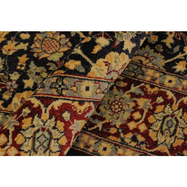 Shabby Chic Shabby Chic Istanbul Cristoph Blue/Red Turkish Hand-Knotted Rug -4'1 X 6'1 For Sale - Image 3 of 8