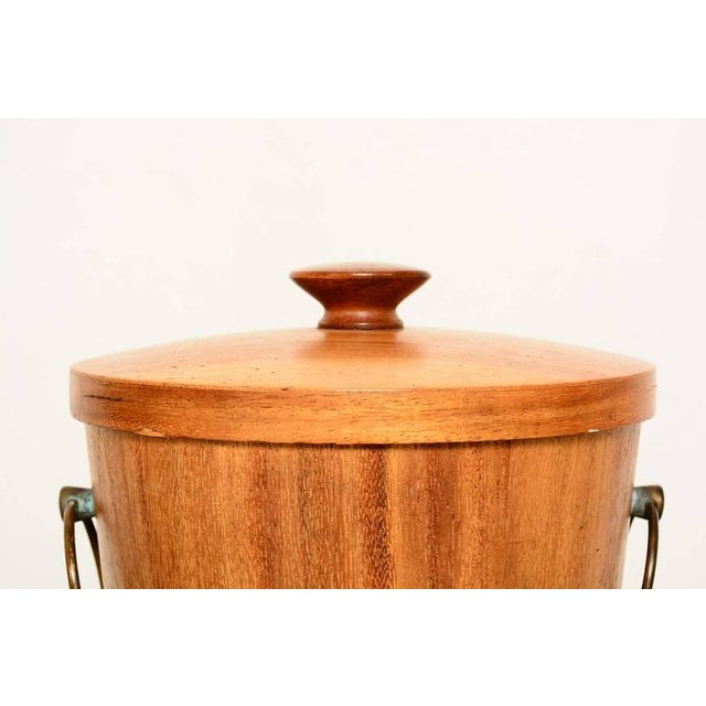 1960s Mexican Modernist Mahogany Ice Bucket For Sale - Image 5 of 6
