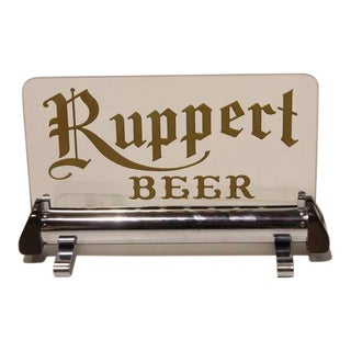 "1930's Vintage Original ""Ruppert Beer"" Sign For Sale"