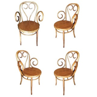 Thonet Scrolling Bentwood Armchair, Set of Four For Sale