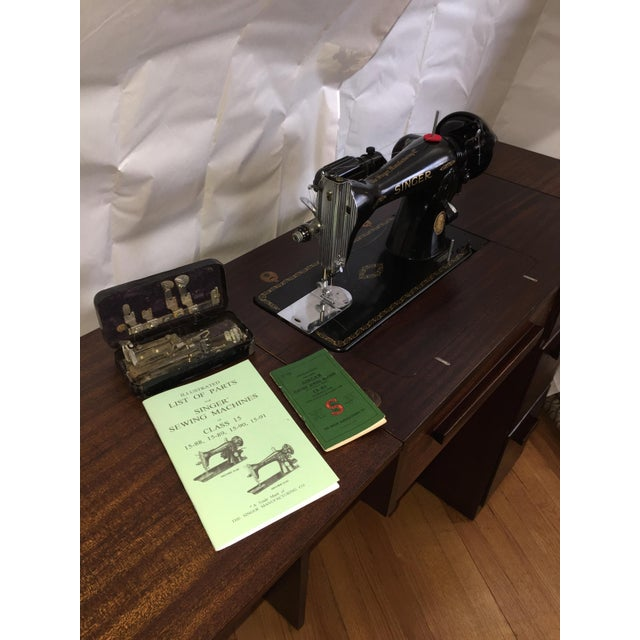 Singer 15-91 Sewing Machine and Cabinet For Sale - Image 9 of 10 - Singer 15-91 Sewing Machine And Cabinet Chairish