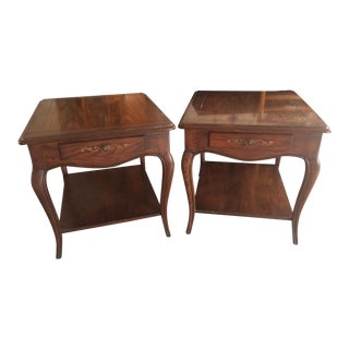 Henredon Four Centuries Queen Anne Style End Tables- Set of Two