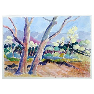 Colorful Landscape Painting by Betty Levasheff