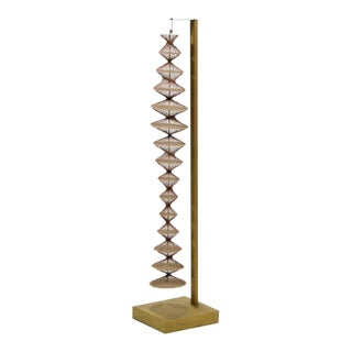 Abstract Geometric Sculpture in Steel and String