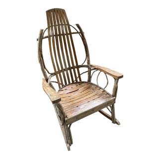 Vintage Handmade Bentwood Rocker For Sale