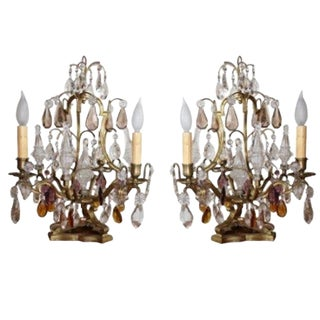 French Table Top Chandeliers - a Pair For Sale