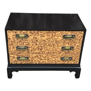1970s Asian Faux Burl Dresser For Sale