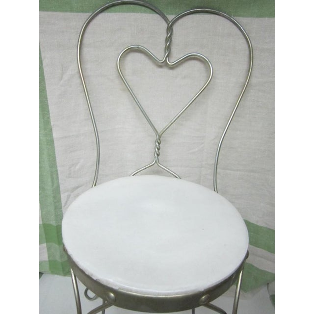 Vintage Metal Ice Cream Parlor Chair with Heart - Image 10 of 10