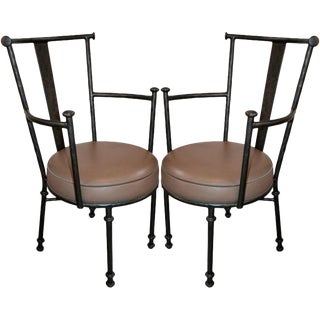Pair of Armchairs and Eight Side Chairs - Set of 10 For Sale